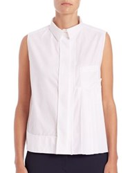 Aquilano Rimondi Side Pleat Poplin Blouse