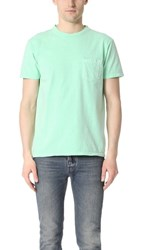 Velva Sheen Pigment Tee With Pocket Mint