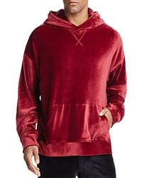 The Narrows Velour Hooded Sweatshirt 100 Exclusive Burgundy Red