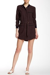 Shades Of Grey Baseball Shirt Dress Brown