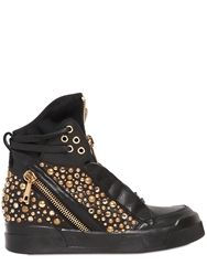 Elena Iachi 60Mm Studded Leather High Top Sneakers Black