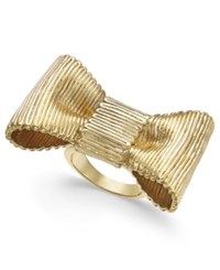 Kate Spade New York Gold Tone Bow Statement Ring