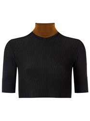 Haight Knit Cropped Top Black