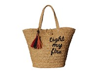 Hat Attack The Doors Light My Fire Tote Natural Tote Handbags Beige
