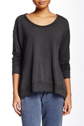 Central Park West The Middleton Long Sleeve Crew Neck Tee Black