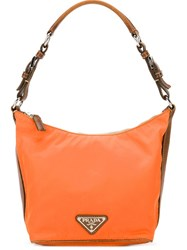 Prada Vintage Hobo Shoulder Bag Yellow And Orange