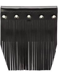 Comme Des Garcons Wallet Fringed Stud Detail Wallet Black