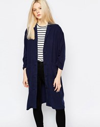 Monki Lightweight Coat Navy