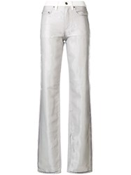 Y Project Bootcut Layered Jeans White