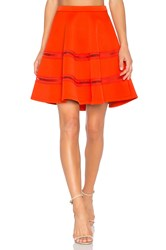 Carven Flowy Mini Skirt Orange