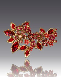 Floral Cluster Pin Jay Strongwater