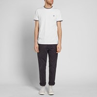 Fred Perry Twin Tipped Tee White