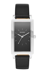 Women's Skagen 'Hagen' Rectangle Mesh Strap Watch 22Mm X 43Mm