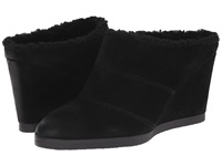 Tahari Spencer Black Burnised Calf Suede Women's Wedge Shoes