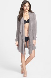 Women's Barefoot Dreams Drape Front Cardigan Pewter