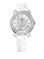 Juicy Couture Ladies Pedigree Silvertone And Crystal Watch White