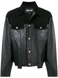 Just Cavalli Slim Fit Biker Jacket Black