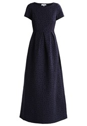 Maxandco. Paola Maxi Dress Blu Dark Blue