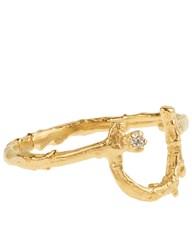 Alex Monroe Gold Little Horseshoe Ring