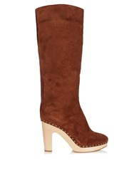 Alvaro Shearling Lined Suede Boots Tan