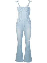 Sjyp Fitted Jumpsuit Blue