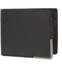 Ted Baker Leather Metal Corner Billfold Black