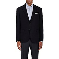 Barneys New York Wool Fleece Two Button Sportcoat Navy