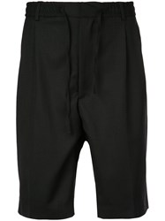 Cmmn Swdn Drawstring Drop Crotch Shorts Black