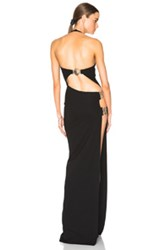 Versus Halter Gown In Black