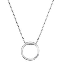 Hot Diamonds Sterling Silver Halo Circle Pendant Silver