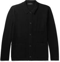 Rag And Bone Harrison Merino Wool Blend Jacket Black