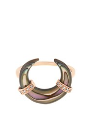 Jacquie Aiche Diamond Abalone And Rose Gold Ring Rose Gold