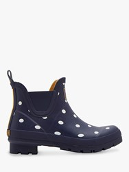 Joules Wellibob Ankle High Wellington Boots Navy Spot