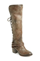Women's Freebird By Steven 'Coal' Tall Leather Boot Grey