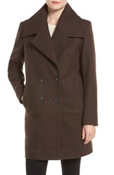 Marc New York Women's 'Natalie' Twill Wool Blend Boyfriend Coat Moss