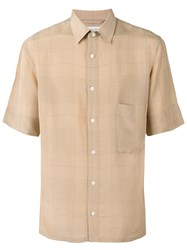 Christophe Lemaire Checked Shirt Nude Neutrals