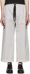 Phoebe English Black And White Wide Leg Trousers