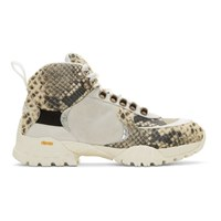 1017 Alyx 9Sm Off White And Black Snake Hiking Boots