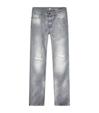 7 For All Mankind Ronnie Skinny Jeans Male Grey