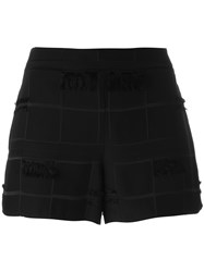 Versace Jeans Frayed Trim Shorts Black