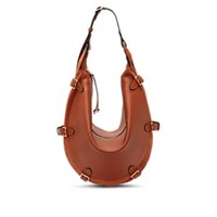 Altuzarra Play Large Leather And Suede Hobo Bag Brown