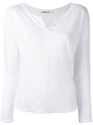 Transit Button Collar T Shirt White