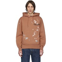 Helmut Lang Orange Painter Standard Hoodie