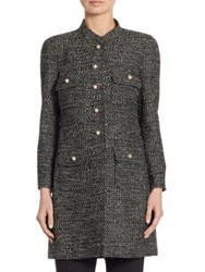 Edward Achour Wool Button Front Jacket Black