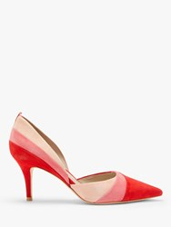 Boden Henrietta Block Colour Court Shoes Poinsettia Suede