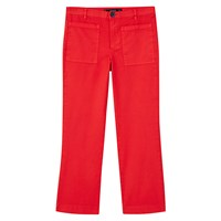 Mango Cropped Trousers Red