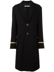 Givenchy Long Military Style Coat Black