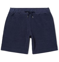 Orlebar Brown Afador Cotton Terry Drawstring Shorts Blue