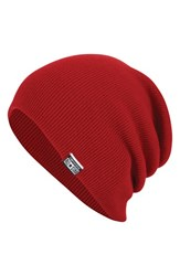 Men's Converse Slouchy Rib Knit Beanie Red Converse Red