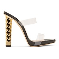 Giuseppe Zanotti Black And Gold Rita Ora Edition Eve Sandals